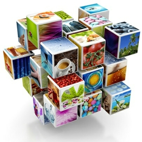 cubes of photos